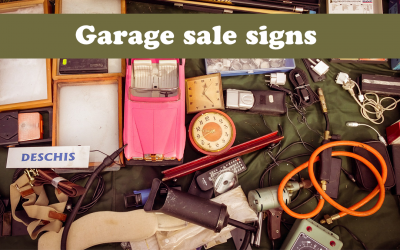 Awesome garage sale signs